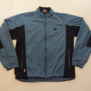 Blue/Black Nike windbreaker track jacket